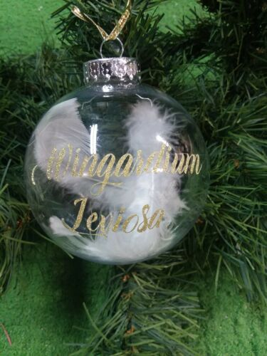 Wingardium Leviosa Large Plastic Ornament With Harry Potter Inspired Ornament