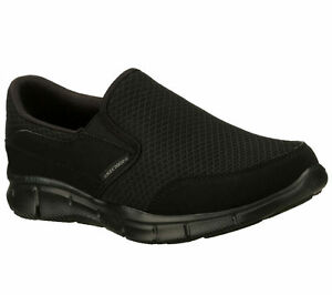 Memory-Foam-Black-Skechers-Shoes-Men-039-s-51361-Comfort-Slip-On-Dress-Casual-Loafer