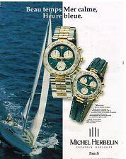 Publicité Advertising 1999 Les Montres Newport Michel Herbelin