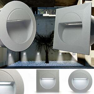 Das Bild Wird Geladen LED 230V IP65 Treppenbeleuchtung  Wandlampen Stufenleuchte 1 2W
