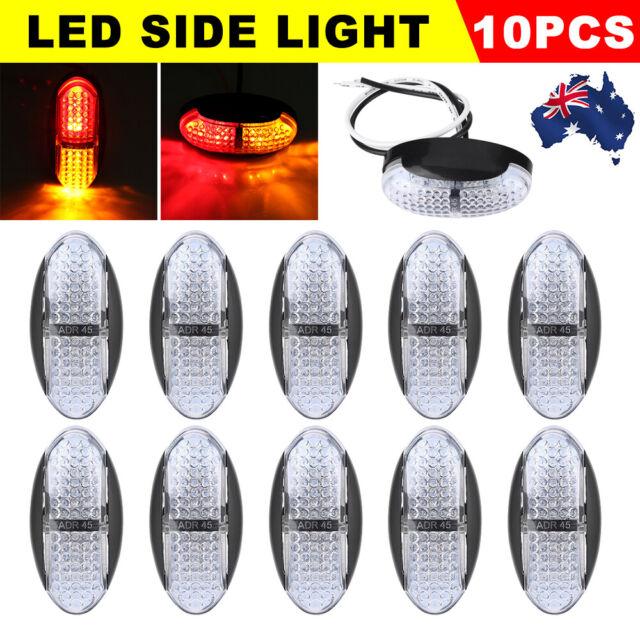 10PCS LED Clearance Lights Side Marker Lamp Red Amber Trailer Truck Multi Volt