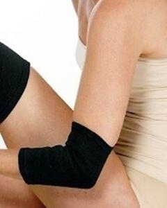 2 x Ellenbogen Bandage Baumwolle elastisch ohne Bewegungseinsc<wbr/>hränkung Arm