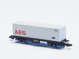 Marklin-Z-scale-2-axle-Container-car-AEG-no-box