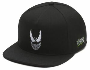 709f3614 Vans x Marvel VENOM Mens 5-Panel Hat (NEW) Black Adj. Snapback Cap ...