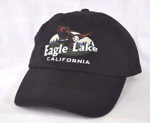 Eagle Lake California Bald Eagle Fishing Ball Cap Hat
