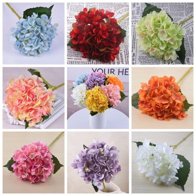 Artificial 6 Heads Hydrangea Silk Fake Flowers Wedding Accessories Home Decor