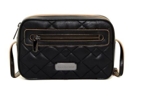 Marc-Jacobs-Sally-Leather-Quilted-Crossbody-Zip-Around-Black-Zip-Top-Logo-New