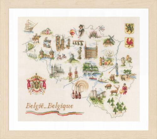 """Lanarte Zählmusterpackung /"""" Landkarte von Belgien /"""" PN-0173689"""