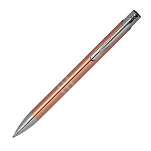 Kugelschreiber aus Metall mit Gravur Farbe roségold