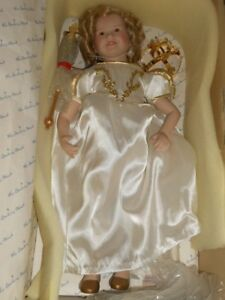 Danbury-Mint-Shirley-Temple-The-Little-Princess-17-034-Porcelain-Doll-Mint-In-Box