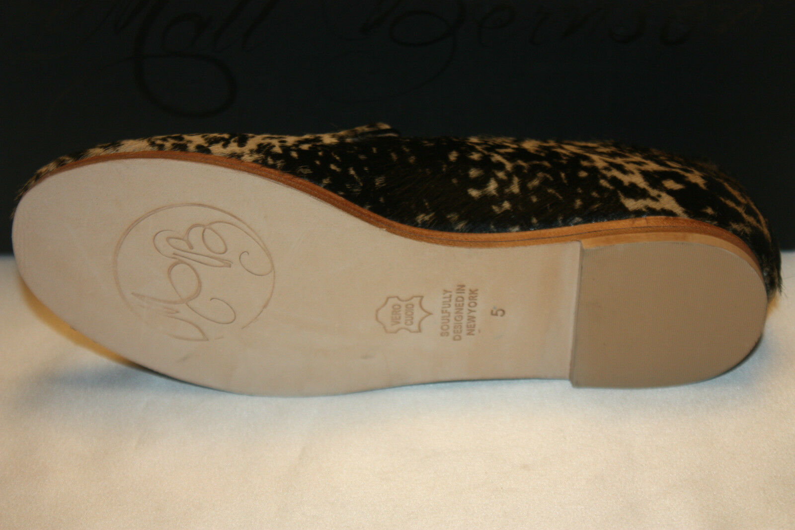 NEW NIB MATT BERNSON Calf Leopard Calf BERNSON Hair Pony GITANES Smoking Schuhes Loafers 5 168 33aa43