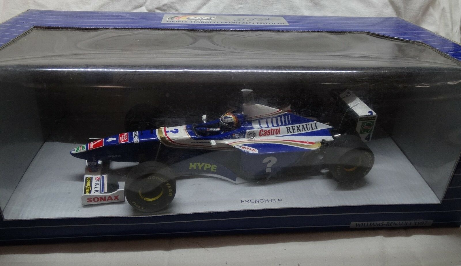 WILLIAMS RENAULT F1 1997 French GP H. FRENTZEN BUILT 1 1 1 18  rare special edition aadf57