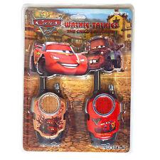 Cars 2 Saetta McQueen Auto Da Corsa A BATTERIA Walkie Talkie Giocattolo Set
