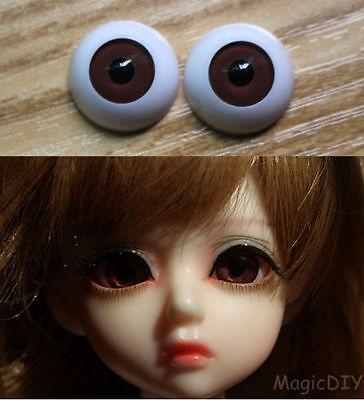 24mm Hand Made BJD Doll Eyes Shining Purple Acrylic Half Ball