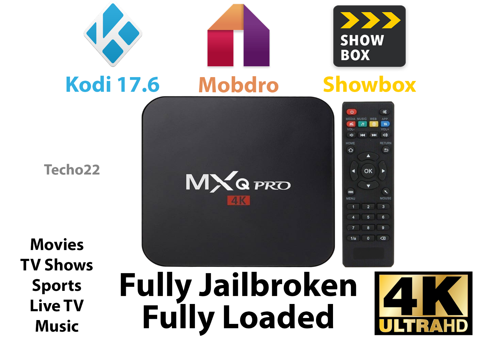 s-l1600 NEW MXQ Pro 4K Ultra HD 3D 64Bit Android 7.1 Quad Core Smart TV Box + KODI 17.6