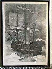 Ib Spang Olsen Framed Print - Vitus Bering i Beringsstraedet 1740 -Ship - Danish
