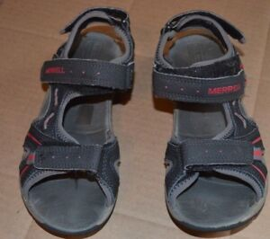 Red 2 Panther Leather Black Youth Accent Merrell Size Gray Sandals y6bfvIY7g