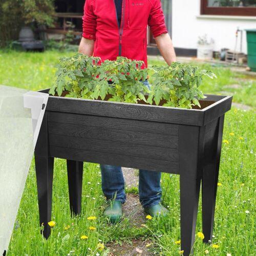 XXL Hochbeet mit Deckel Frühbeet Gewächshaus Treibhaus Blumenkasten Kräuterbeet