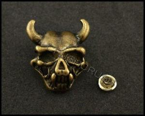 10Sets-Antique-Brass-Skull-Horns-RIVETS-Conchos-Leather-Decoration-RV8218
