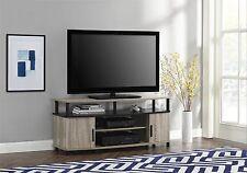 WHITE OAK Black TV STAND Fits 50-Inch TV Entertainment Console Media Flat Screen