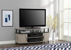White Oak Black Tv Stand Fits 50 Inch Tv Entertainment Console Media