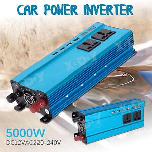 5000W-DC12-a-AC220V-LED-Numerique-Puissance-Inverter-Onduleur-Convertisseur-Bleu