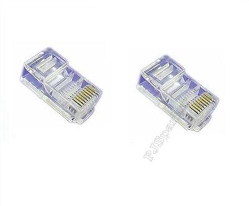 20Pcs RJ45 CAT5 CAT5E 8P8C Modular Network Cable End Plug Lan Connector Lot N wh