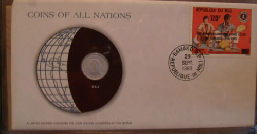 Coins of All Nations Mali 5 Francs 1961 UNC