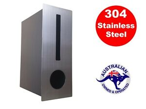 Stainless Steel Letterbox Rectangle Fence Wall Mount Brick Wall Silver Mailbox Ebay