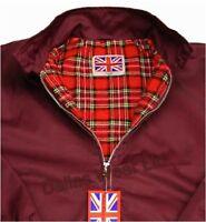 Retro Harrington Jacket Mod Indie Ska Burgundy/wine Xxl