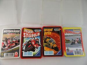 J879-Quartet-4-Piece-034-Racing-Machines-Grand-Prix-Feuer-Stuhle-Motorcycles
