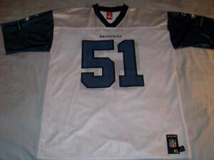 Lofa Tatupu 51 Seattle Seahawks NFL Reebok Print White Jersey Mens X ... 69487cfa6