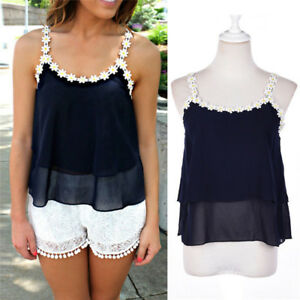 Fashion-Women-Lace-Summer-Vest-Top-Sleeveless-Shirt-Blouse-Casual-Tank-Tops