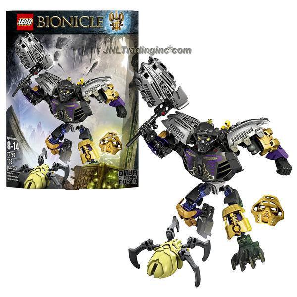 Nouveau 2015 Bionicle  Série Set Figure  70789 Onua Maître de la terre (pièces  108)  gros pas cher et de haute qualité