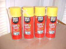 Lot Of 4 12oz Cans Great Stuff Gaps Amp Cracks Spray Foam Sealant Insulation New