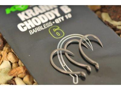 Korda Krank Choddy Gancio (10 Per Confezione) Con Tutte Le Dimensioni Pesca Della Carpa Ganci-