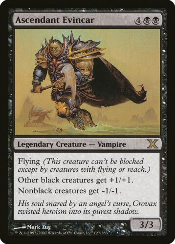 Ascendant Evincar 10th Edition NM Black Rare MAGIC THE GATHERING CARD ABUGames