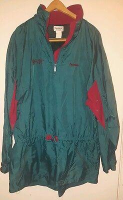 Pull over collection on ebay 90s og vintage reebok blacktop logo pullover windbreaker jacket pump hood green gumiabroncs Image collections