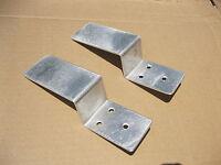 Drop Open Bar Security Door Lock Brackets Fits 2x4 Boards 1 1/2 Wide 1 Pair