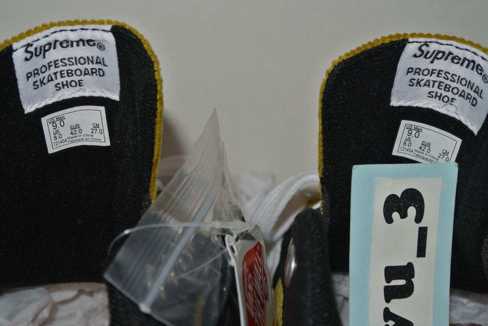 b99845b463 ... NEW SUPREME SUPREME SUPREME x VANS SS18 LAMPIN PRO SIZE 9 BLACK CROCODILE  CORDUROY box logo ...