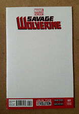 SAVAGE WOLVERINE #1 1ST PRINT - BLANK VARIANT MARVEL COMICS (2013) FRANK CHO