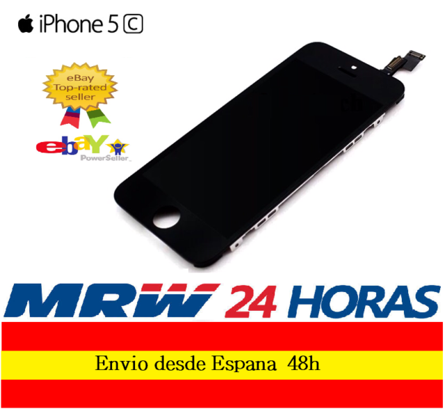 PANTALLA COMPLETA TACTIL LCD IPHONE 5C NEGRO DISPLAY