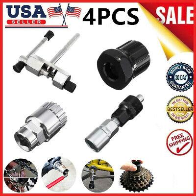 4pcs//Set MTB Bicycle Bike Crank Chain Axis Extractor Removal Repair Tools Set US