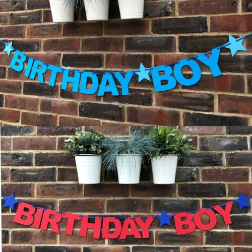 Bunting 1st 2nd 3rd Birthday party decoration personalised Birthday Boy Banner