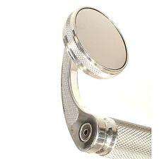 """Bar End Mirror Chrome Billet 7/8"""" For Honda Suzuki Yamaha Kawasaki"""