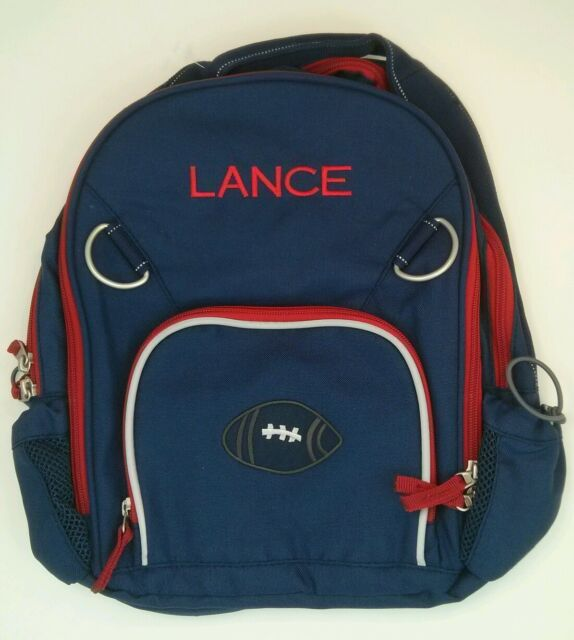Pottery Barn Kids Clothing Line: Pottery Barn Kids Small Fairfax Blue Red Backpack Football