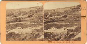 Nazareth-Israele-Galilea-Terra-Sainte-Religion-Stereo-J-Andrieu-Albumina-c1870