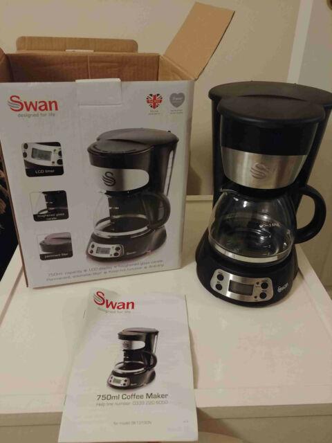 Swan SK13130N 700W Coffee Maker, Black, 750ml
