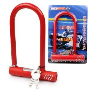 U-Lock Bike Motorbike Motorcycle Scooter Bicycle Cycling Security Steel Chain