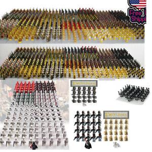 21pcs-CUSTOM-Knight-Minifigures-Military-Army-Soldier-Figure-Minifigure-Blocks